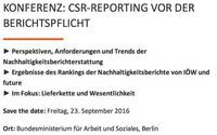 CSR-Konferenz 23.9.2016 in Berlin